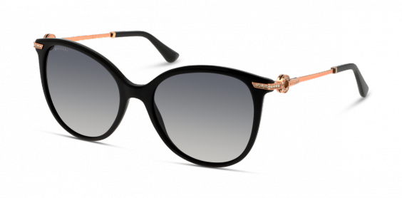 Bulgari - Occhiale da Sole Donna, Shiny Black/Grey Shaded Polarized  BV8201-501/T3  C55