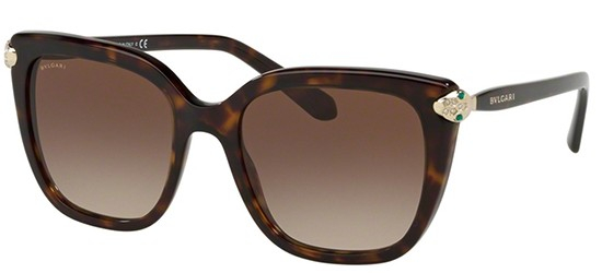 Bulgari - Occhiale da Sole Donna, Dark Havana/Brown Shaded  BV8207-504/13 C53