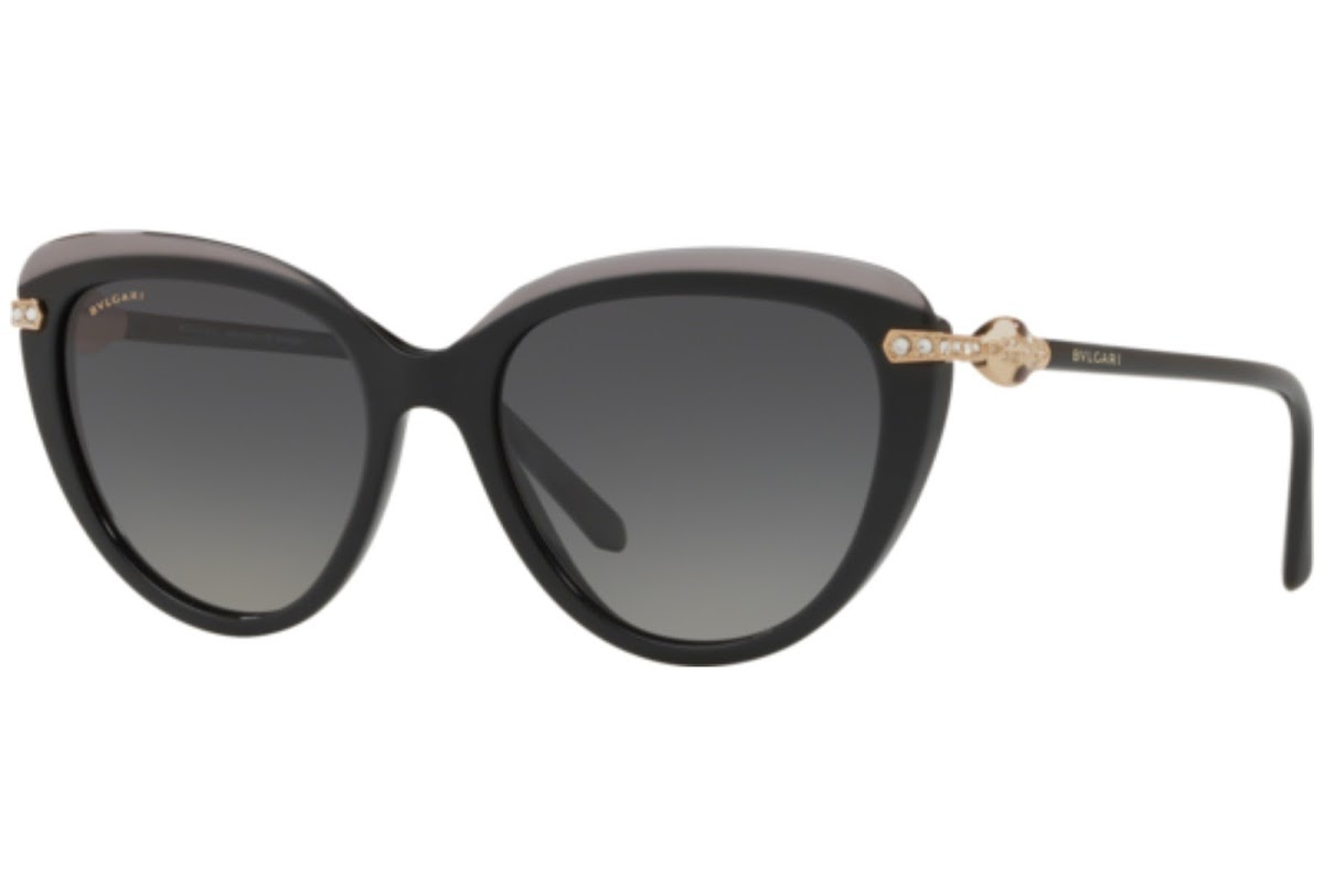 Bulgari - Occhiale da Sole Donna, Black/Grey Shaded  BV8211-5464/T3 Polarized  C55