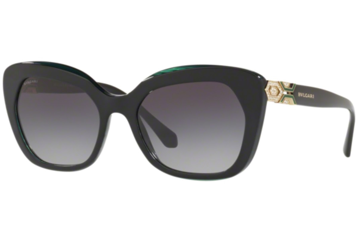 Bulgari - Occhiale da Sole Donna, Black-Green/Grey Shaded  BV8213-5417/8G  C55
