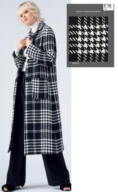 Cappotto lungo con tasche applicate