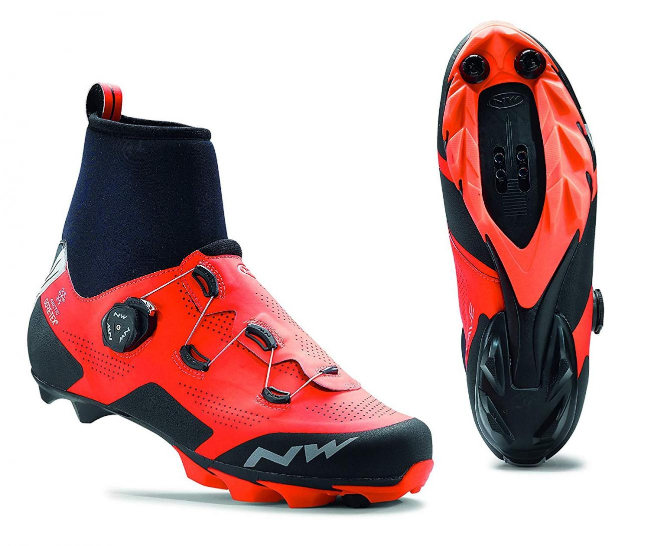 Northwave MTB XC shoes Raptor Arctic GTX SMU lobster orange/black