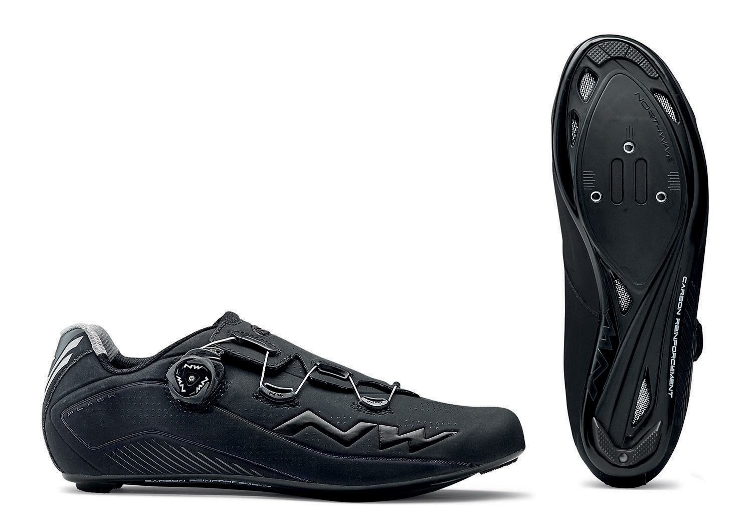 NORTHWAVE Man road cycling shoes FLASH 2 CARBON black