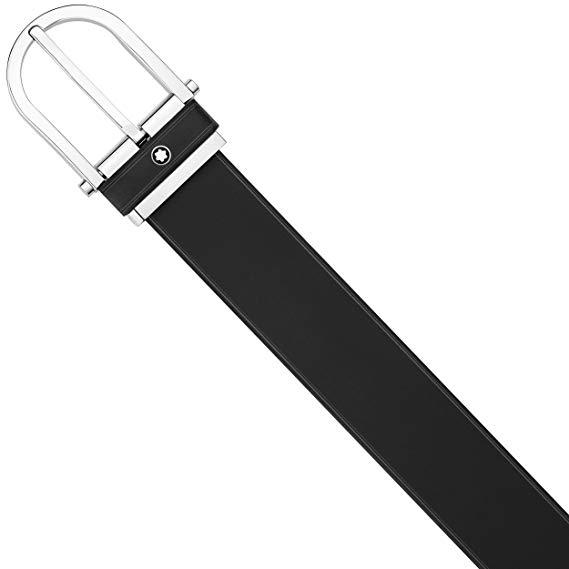 Cintura Montblanc Casual in pelle nera