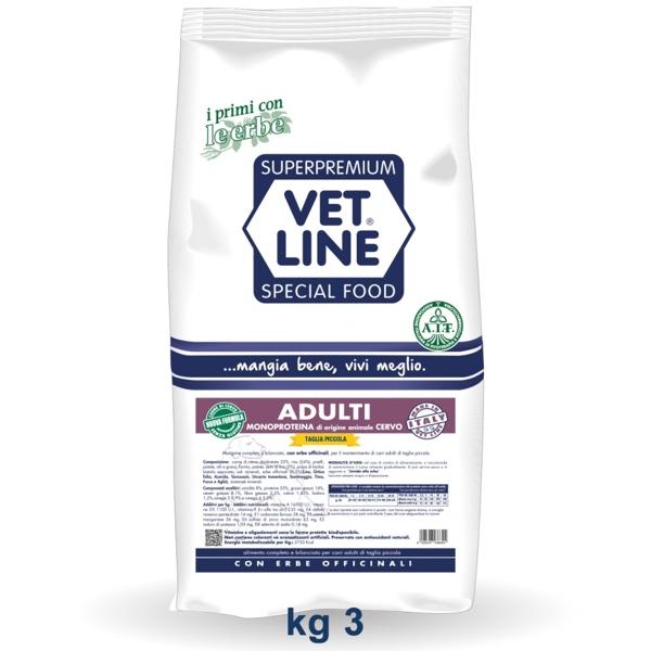 Vet Line Adulti Monoproteico Cervo  Taglia piccola 3 Kg