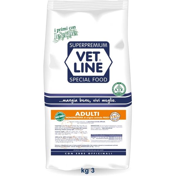 Vet Line Adulti Monoproteico Pesce 3 Kg