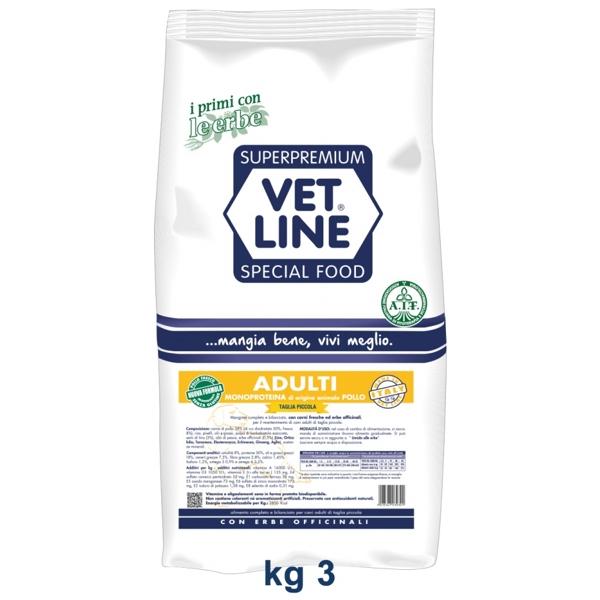 Vet Line Adulti Monoproteico Pollo  Taglia piccola 3 Kg