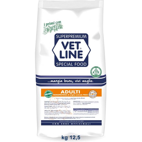 Vet Line Adulti pesce monoproteico all breeds 12,5   kg