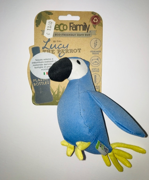 Beco Family Lucy the parrot  medium Gioco in plastica riciclata