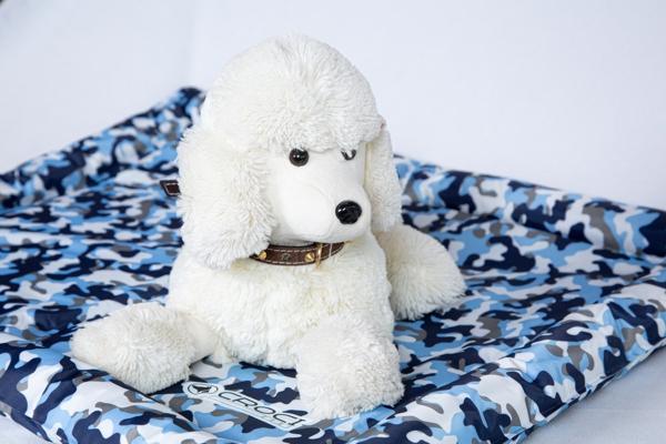 Fresh mat Cuscino refrigerante Stampa mimetica blu. Dimensioni 102x63 cm