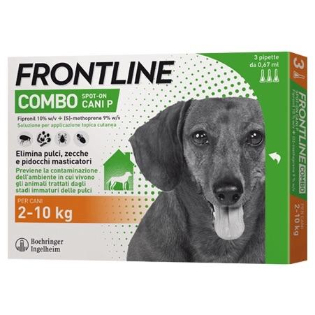 Frontile Combo per cani di peso tra  2-10 kg 3 pipette da 0,67 ml
