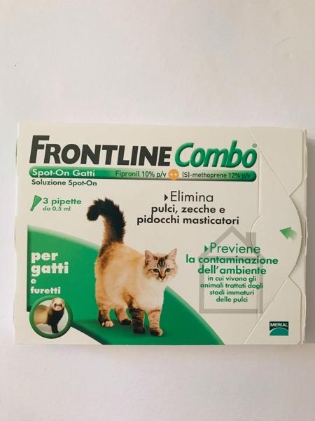 Frontile Combo spot on gatti. 3 pipette da 0,5 ml