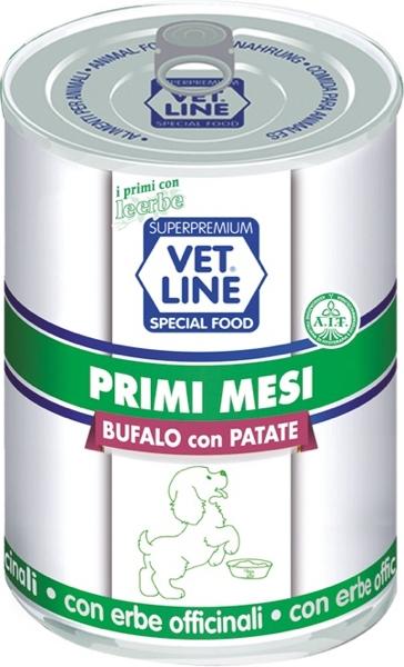 Mangime umido Primi mesi bufalo con  patate 400 gr Vet Line