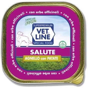Mangime umido Salute agnello con patate 150 gr Vet Line
