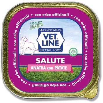 Mangime umido Salute anatra con patate 150 gr Vet Line