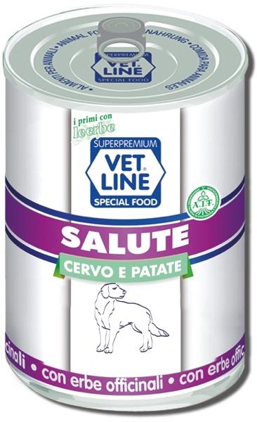 Mangime umido Salute cervo con patate 400 gr Vet Line