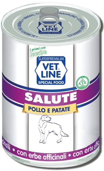 Mangime umido Salute pollo con patate 400 gr Vet Line