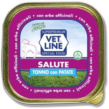 Mangime umido Salute tonno con patate 150 gr Vet Line