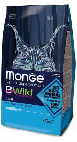 Monge B Wild low grain   acciughe adult 1,5 kg