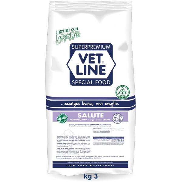 Vet Line Salute Monoproteico Cervo e  patate 3 Kg