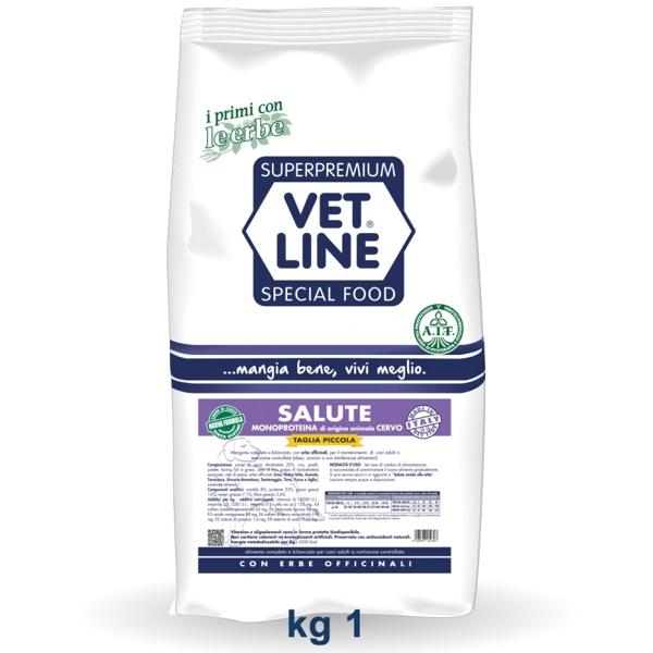 Vet Line Salute Monoproteico Cervo e  patate Taglia piccola 1 Kg