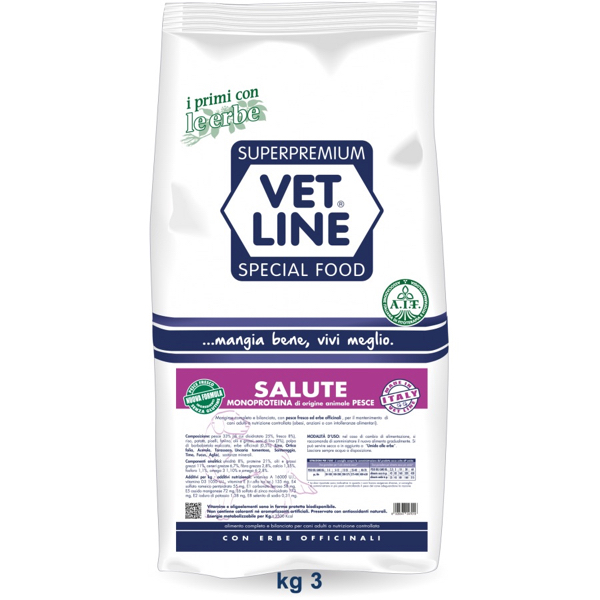 Vet Line Salute Monoproteico Pesce 3  Kg