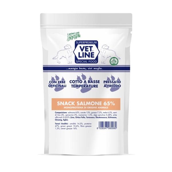 snack salmone Vet Line  80 gr