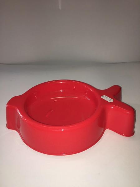 United Pets Ciotola in plastica   design pesce rosso  diametro 16 cm