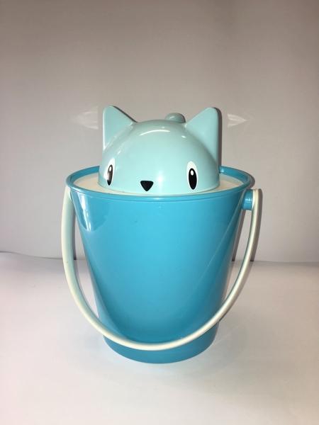 United Pets Crick Porta crocchette  design gatto  colore azzurro