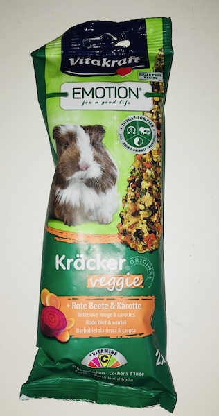 Vitakraft Emotion Kracker per porcellini d'India veggie barbabietola rossa e carota 2 pz 112 gr
