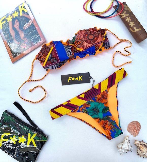 Bikini fascia e slip fianco Papunya Effek Taglia M