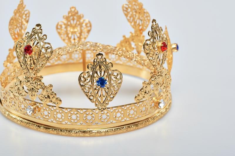 Corona Ducale diam.8,  in ottone dorato 24k