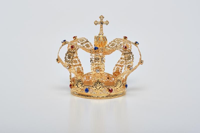 Corona Imperiale diam.15,  in ottone dorato 24k