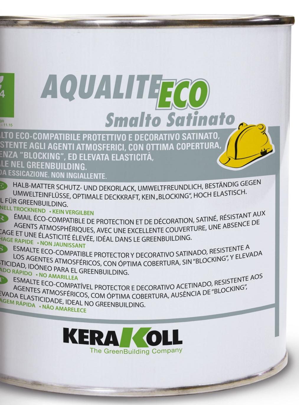 Kerakoll aqualite eco smalto satinato 2,5l bianco  A001