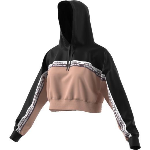 Felpa Adidas Crop Top Con Cappuccio Black/Nude EC0766