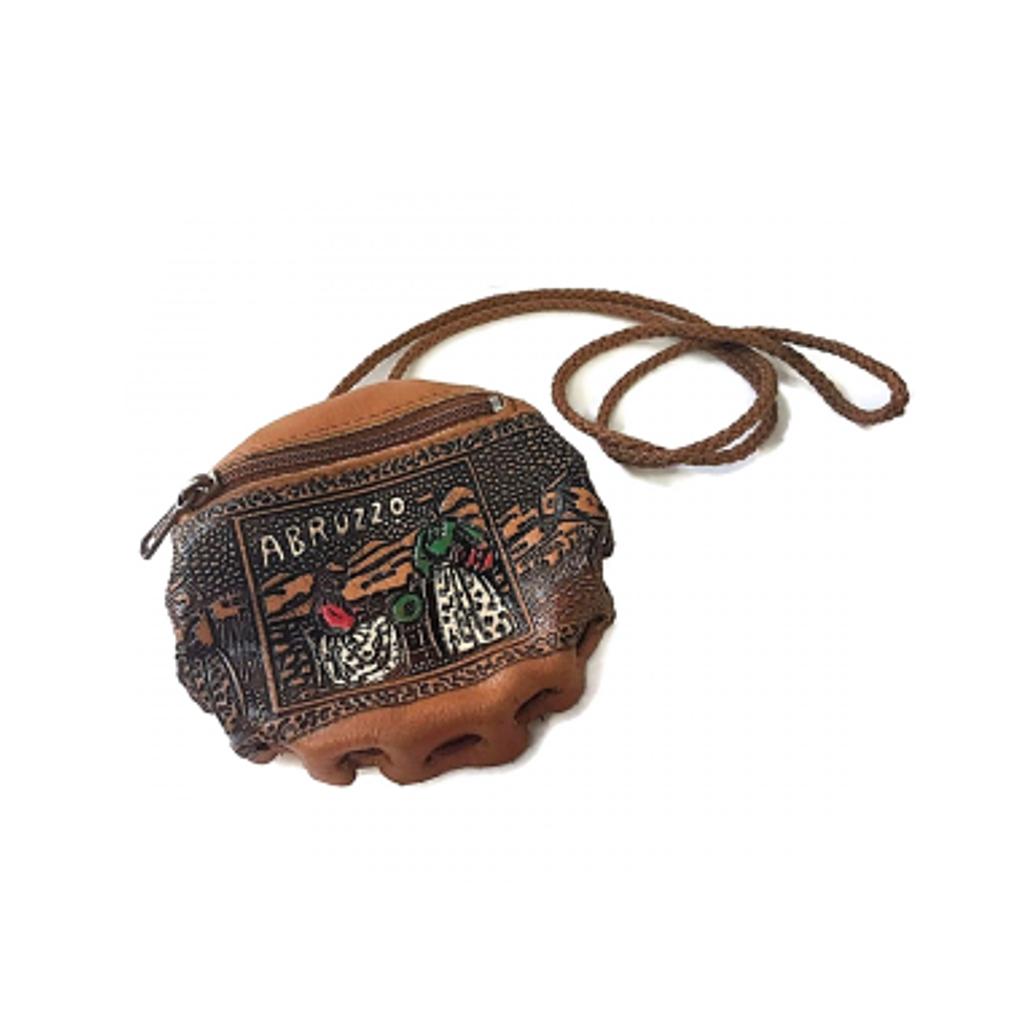 Vintage BORSELLINO decorato souvenir Abruzzo