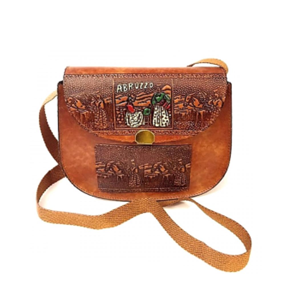 Borsa vintage tracolla salpa souvenir Abruzzo
