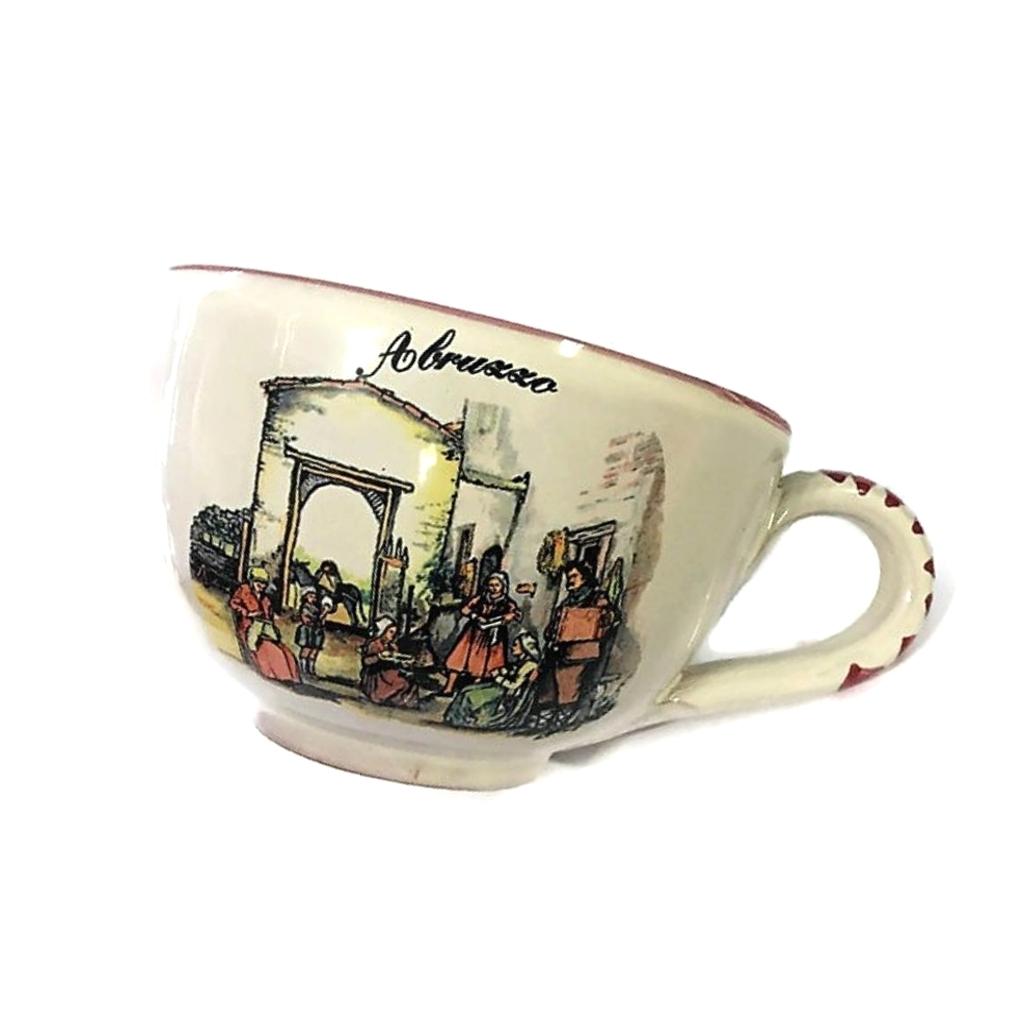 TAZZA grande in ceramica souvenir Abruzzo