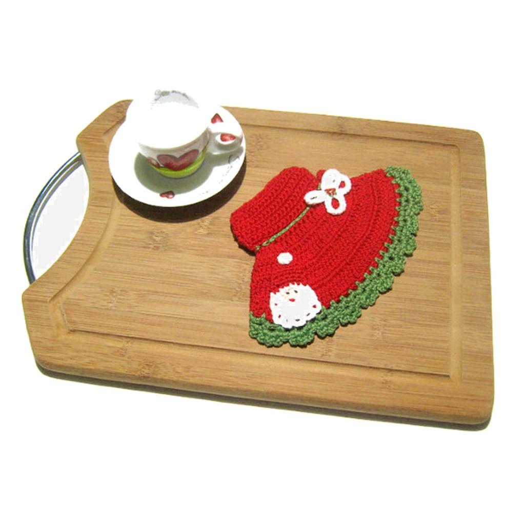 Presina Albero Di Natale Uncinetto.Presina Cappello Rosso Con Babbo Natale All Uncinetto