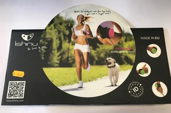 Lishinu Guinzaglio da polso estendibile fino a 3 m di lunghezza per cani fino a 30 kg
