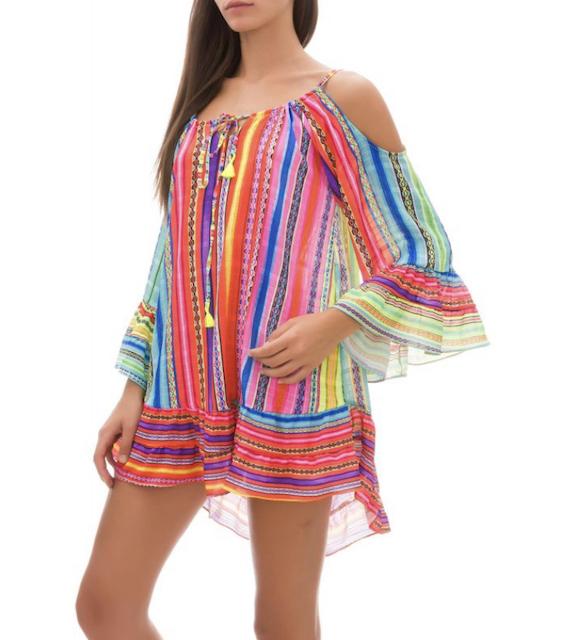 Vestito corto Rainbow Changit