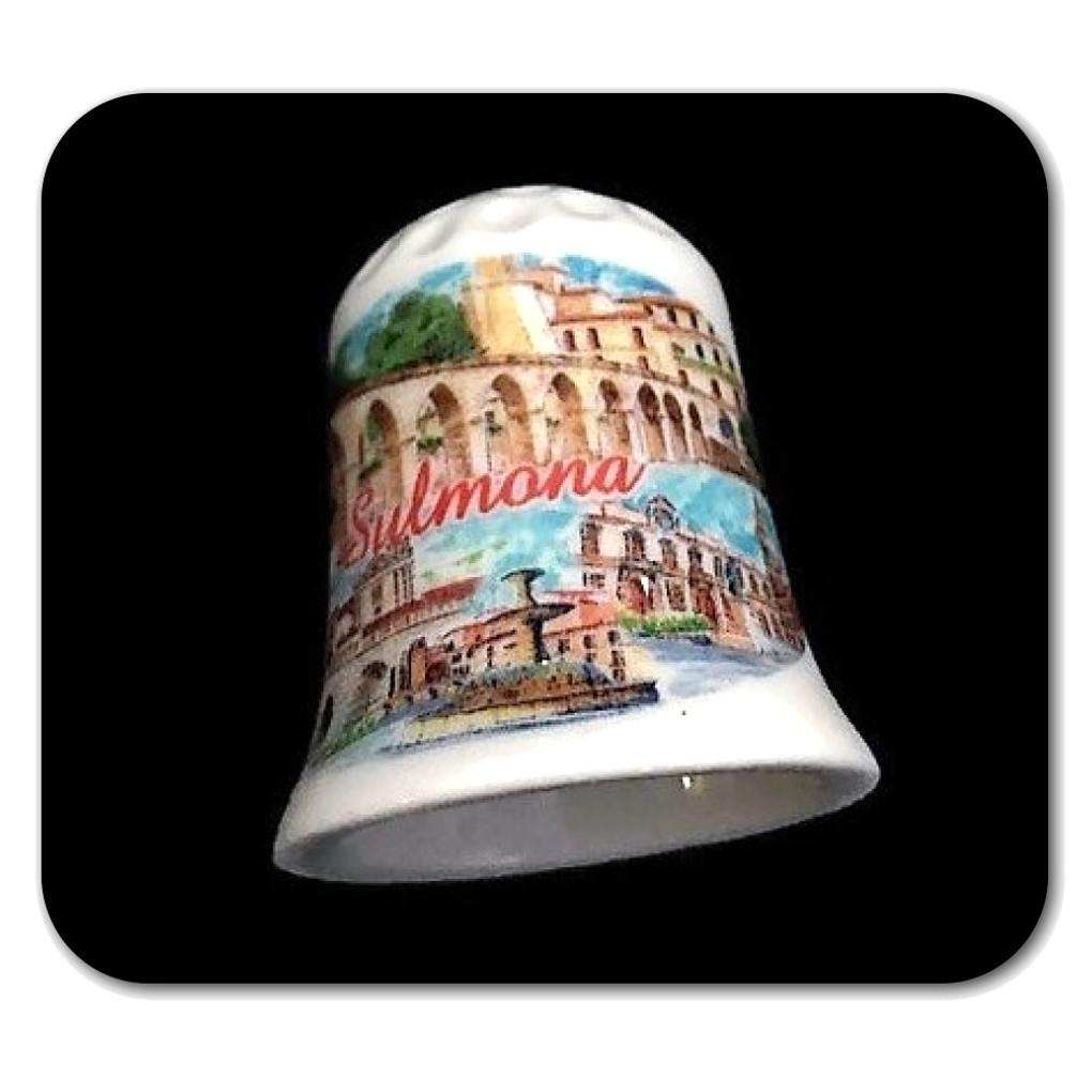 Ditale Sulmona in ceramica souvenir