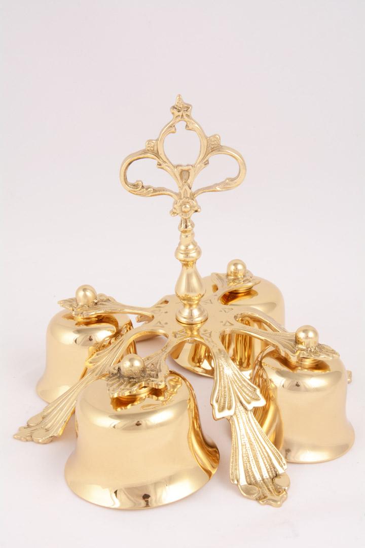 Campanello Liturgico a Quattro Suoni in Bronzo Dorato LIS 47-4