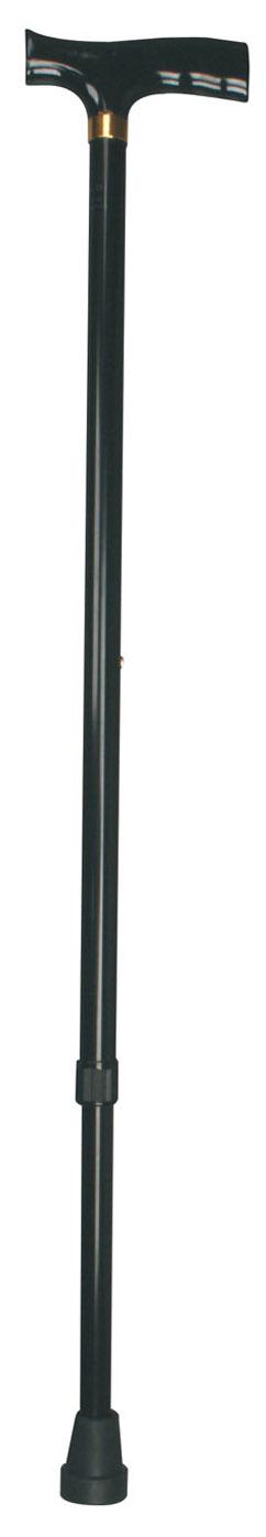 Bastone in alluminio manico in legno