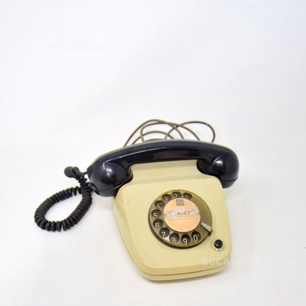 TELEFONO VINTAGE CORNETTA NERA