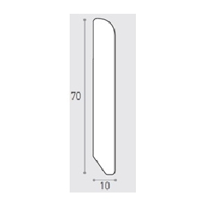 MM 70X10 ML 3.00 -  BATTISCOPA PINO TINTO MIELE