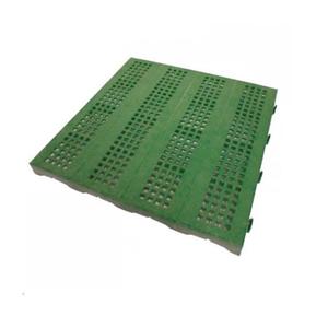 Piastrella Mattonella da Giardino Esterno in Plastica Verde 40x40 cm Carrabile