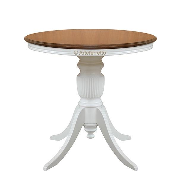 Tavolino rotondo bicolore