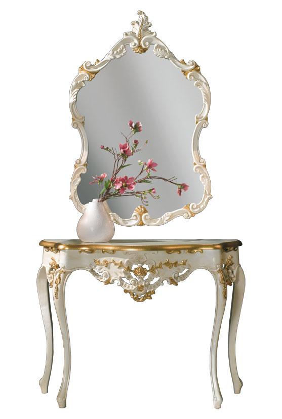 Consolle e specchio di lusso 'Gold Plus'