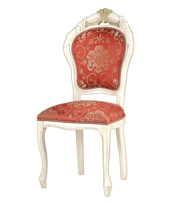 Sedia classica intagliata con foglia